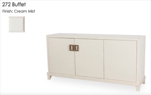 272 Buffet finished in Cream Mist
