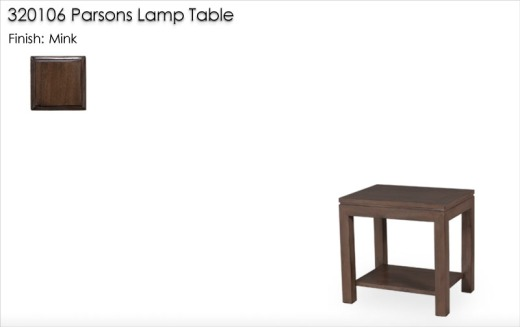 320106 Parson Lamp Table finished in Mink