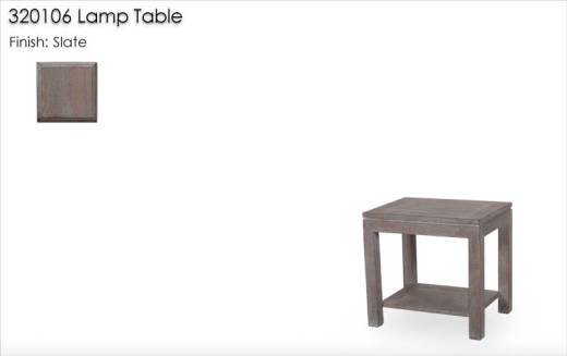 320106 Parsons Lamp Table finished in Slate
