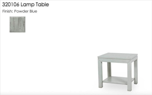 320106 Parsons Lamp Table finished in Powder Blue