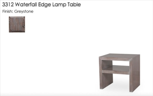 3312 Waterfall Edge Lamp Table finished in Greystone