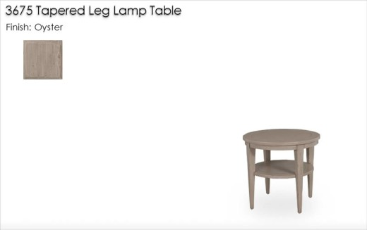 3675 Tapered Leg Lamp Table finished in Oyster