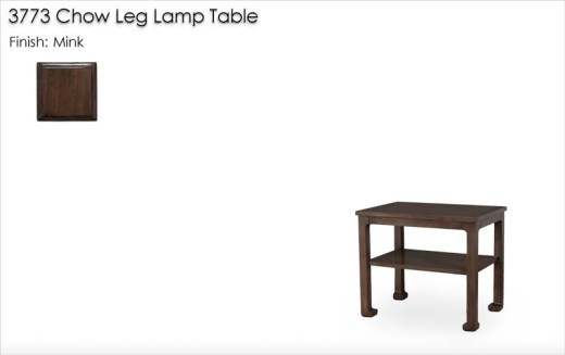 3773 Chow Leg Lamp Table finished in Mink