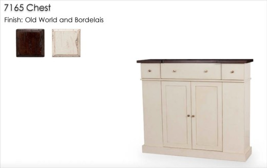 7165 Chest finished in Old World and Bordelais