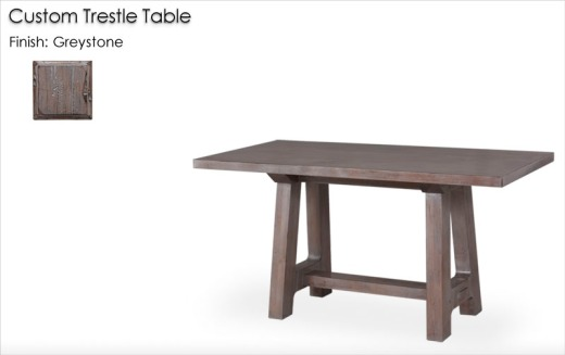 Custom Trestle Table finished in Greystone