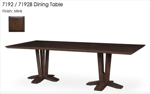 7192 / 7192B DIning Table finished in Mink