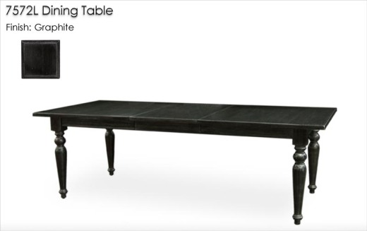 7572L Dining Table finished in Graphite