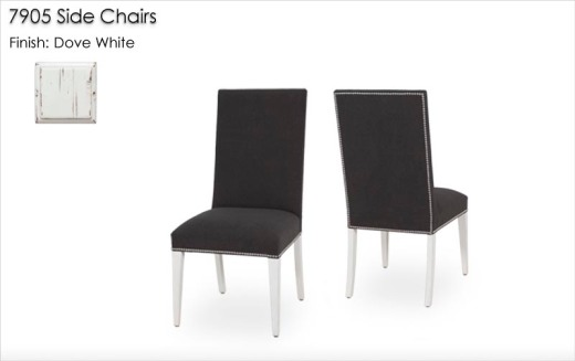 7905 Side Chairs finished in Dove White