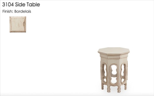3104 Side Table finished in Bordelais