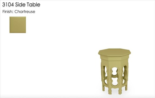 3104 Side Table finished in Chartreuse