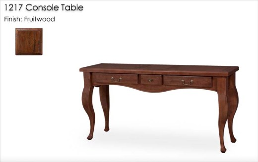 1217 Console Table finished in Fruitwood