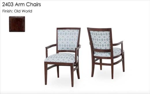 2403 Arm Chairs finished in Old World
