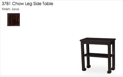 3781 Chow Leg Side Table finished in Java