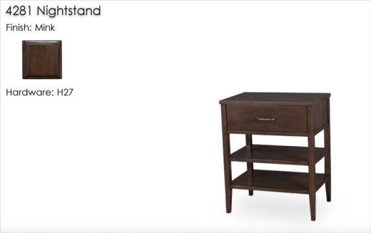 4281 Nightstand finished in Mink