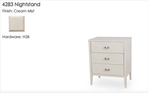 4283 Nightstand finished in Cream Mist