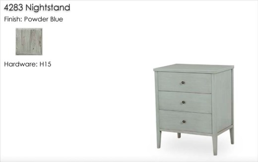 4283 Nightstand finished in Powder Blue