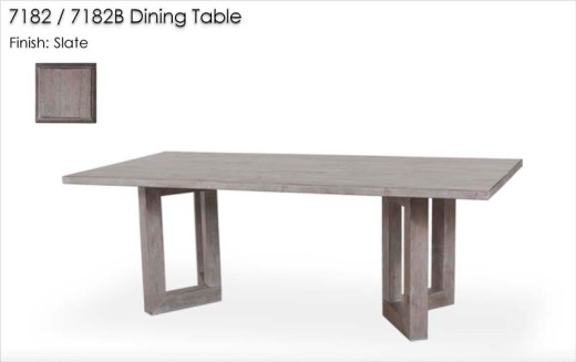 7182 / 7182B Dining Table finished in Slate