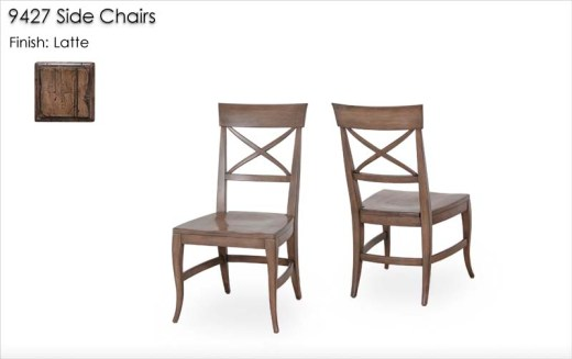 9427 Side Chairs finished in Latte