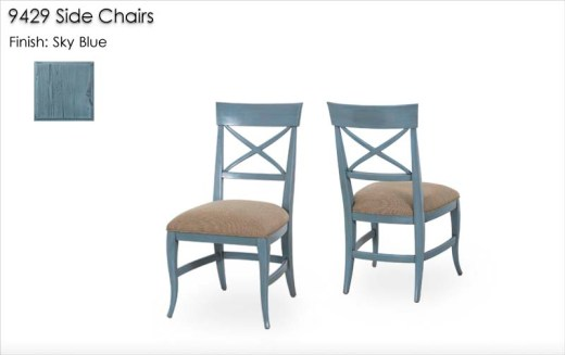 9429 Side Chairs finished in Sky Blue