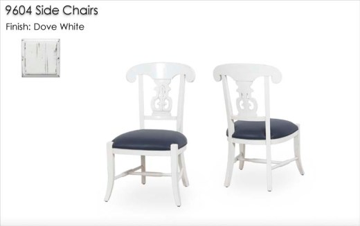 9604 Side Chairs finished in Dove White