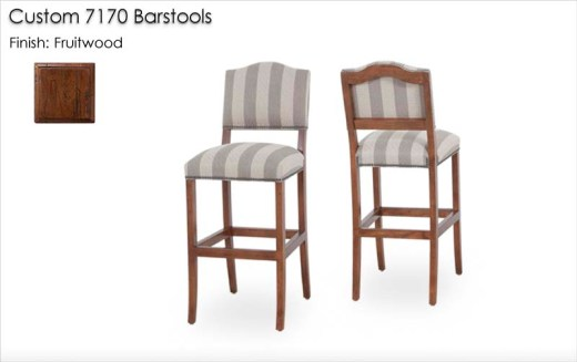 Custom 7170 Barstools finished in Fruitwood