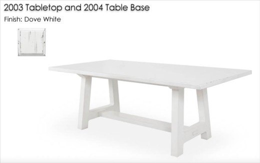 2003/2004 Dining Table finished in Dove White