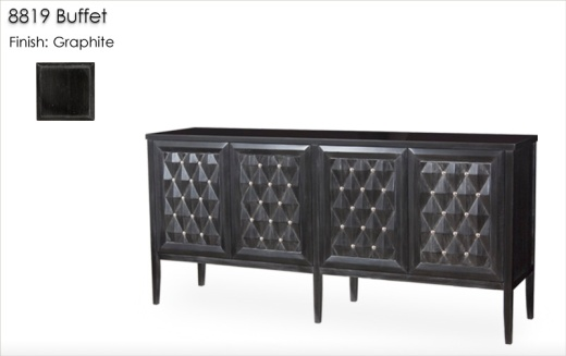 8819 Dining Table Buffet finished in Graphite