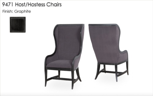 9471 Host/Hostess Chairs finished in Graphite