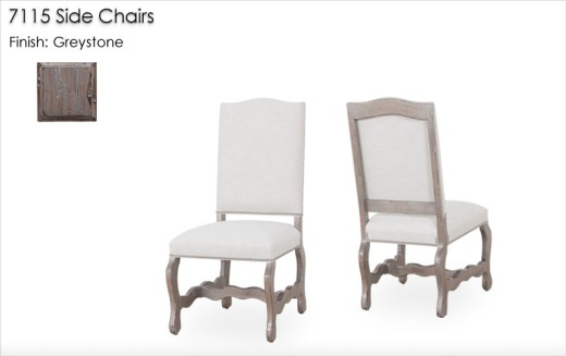 7115 Side Chairs finished in Greystone