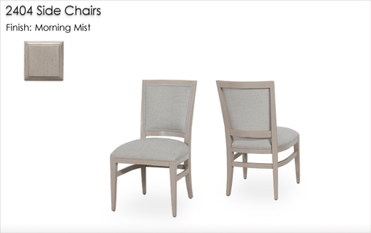 2404 Side Chairs finished in Morning Mist