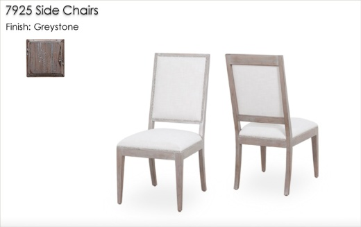 7925 Side Chairs finished in Greystone