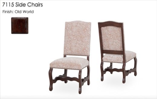 7115 Side Chairs finished in Old World