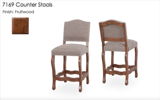 7169 Counter Stools finished in Fruitwood