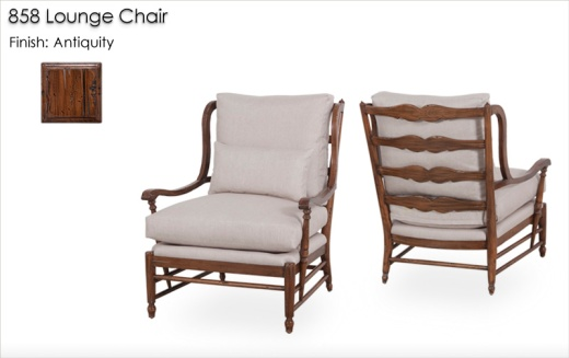 858 Lounge Chair finished in Antiquity
