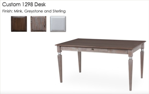 Custom 1298 Desk finished in Mink, Greystone and Sterling