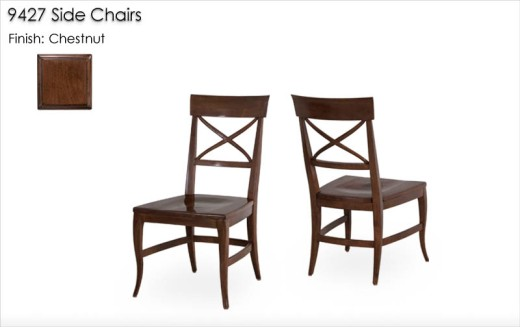 9427 Side Chairs finished in Chestnut