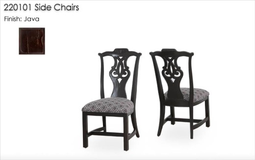 220101 Side Chairs finished in Java
