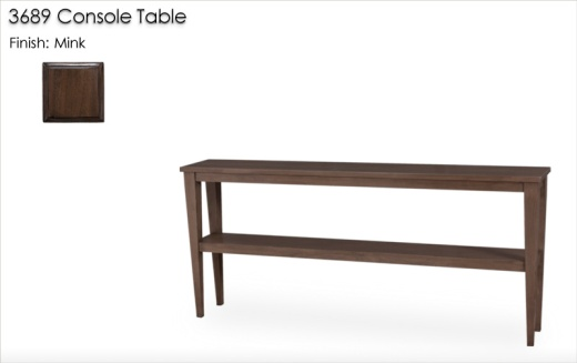 3689 Console Table finished in Mink