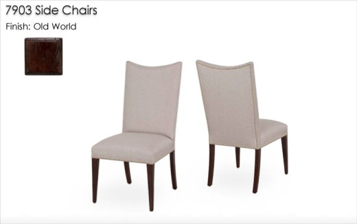 7903 Side Chairs finished in Old World