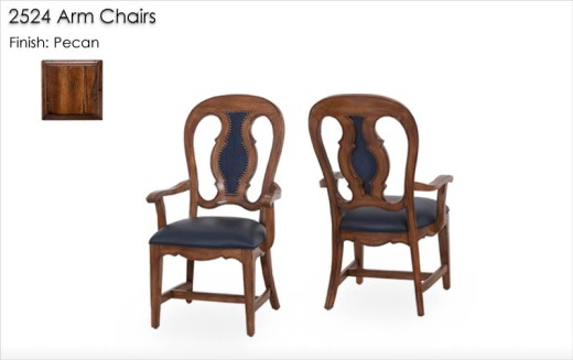 2524 Arm Chairs finished in Pecan
