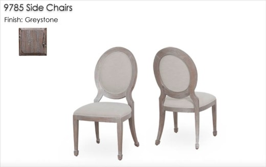 9785 Side Chairs finished in Greystone
