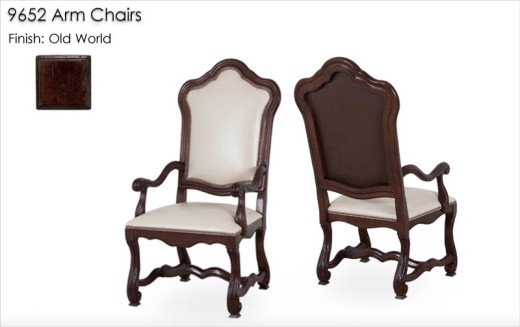 9652 Arm Chairs finished in Old World