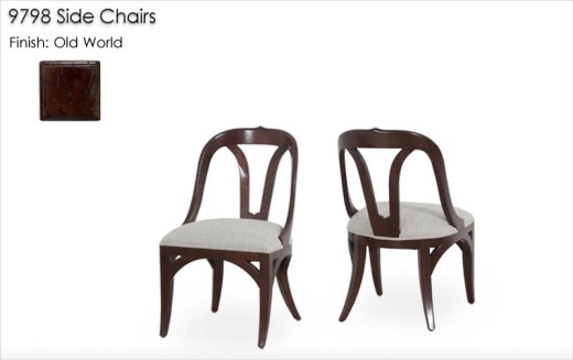 9798 Side Chairs finished in Old World