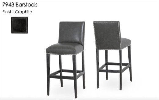 7943 Barstools finished in Graphite
