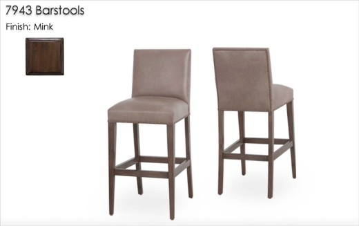 7943 Barstools finished in Mink