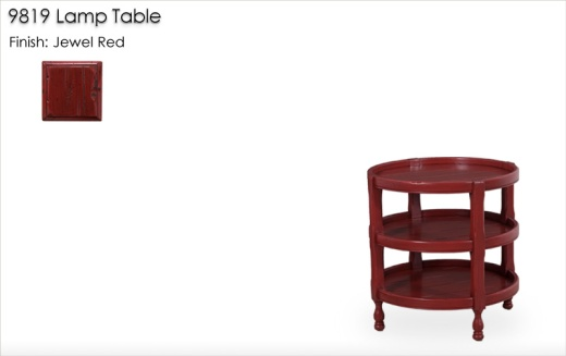 9819 Lamp Table finished in Jewel Red