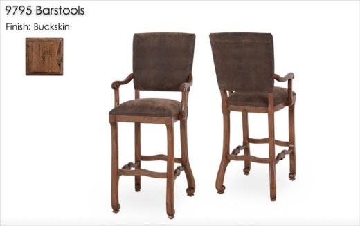 9795 Barstools finished in Buckskin