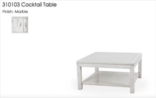 310103 Cocktail Table finished in Marble