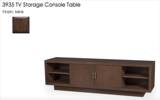 3935 TV Storage Console Table finished in Mink