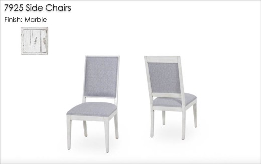 7925 Side Chairs finished in Marble